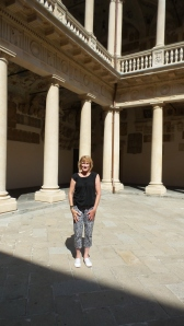 Standing in the courtyard where Galileo taught at the University of Padua